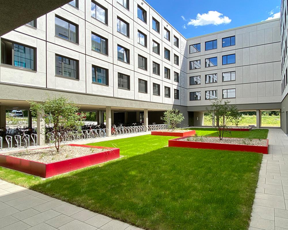 Fertigstellung der Außenanlagen am Wohnheim Lutterterrassen