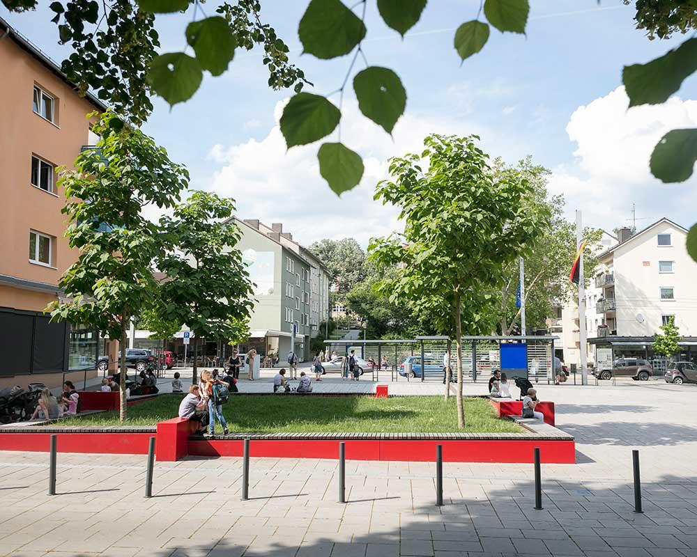 Stadtplatz Annastraße und Grünzug Motzberg in Kassel - Stadtteil Vorderer Westen